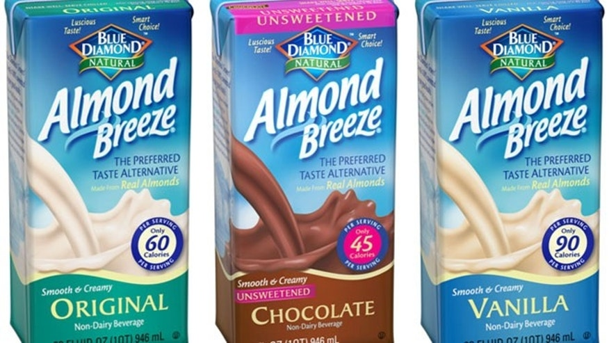 The plaintiffs charge that Blue Diamond's almond milk contains only 2 percent of almonds.