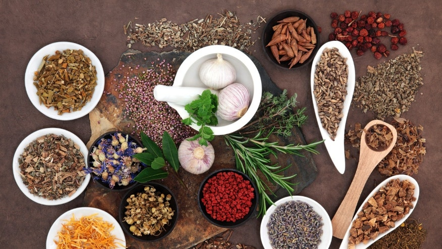 Holistic ingredients used in the kitchen.