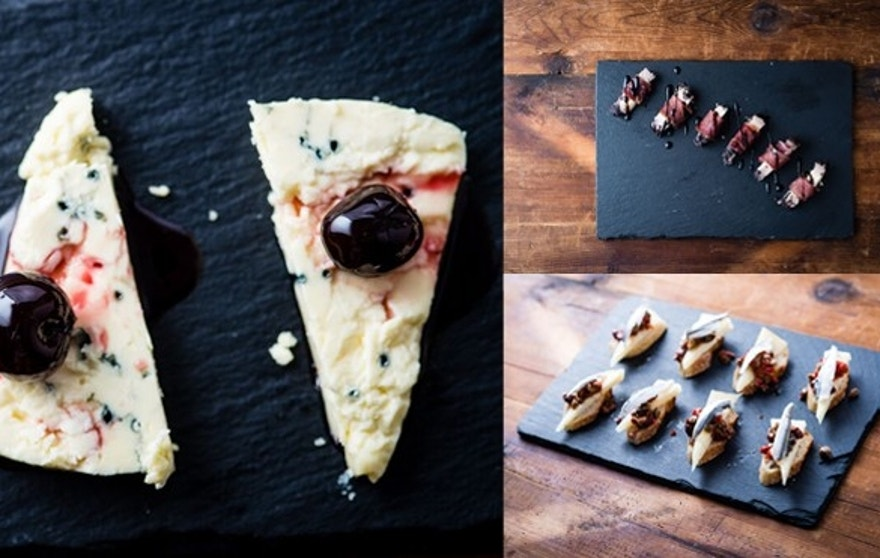 A selection of three gourmet cheese bites celebrating the Pope's unique cultural heritage.