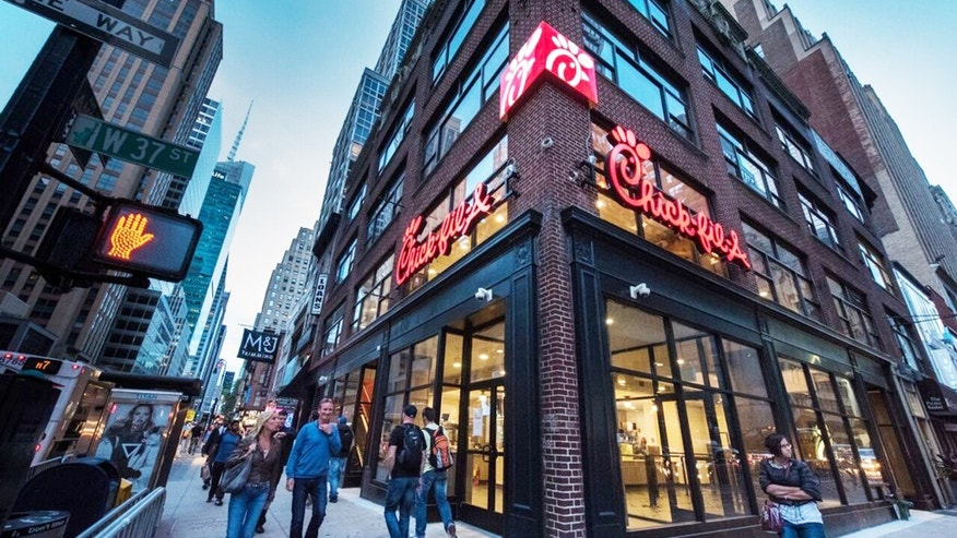 New York City's first Chick-fil-A, located on 37th Street and 6th Avenue, opens Oct. 3.