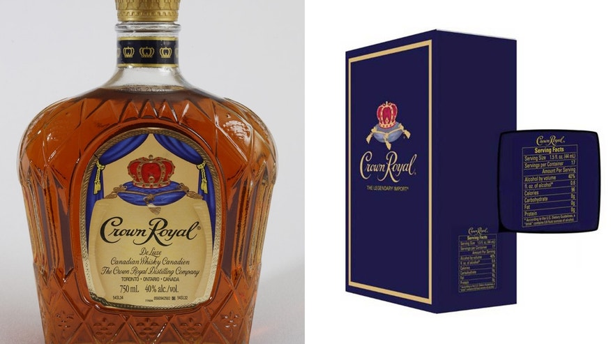 New bottles of Crown Royal will  feature nutritional information like serving size, calories and carbohydrates.