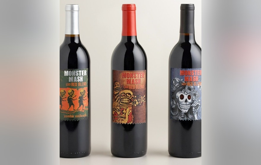 Monster Mash wine is bold, fruity notes of black cherry jam, spice and tobacco. The festive label will also pair perfectly with your Halloween décor.