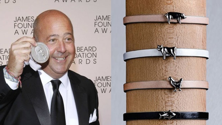 Andrew Zimmern is designing food themed jewelry with a cause.
