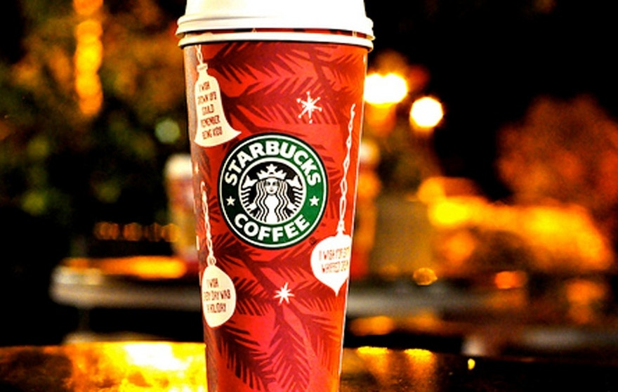 Starbucks 2012 holiday cup.