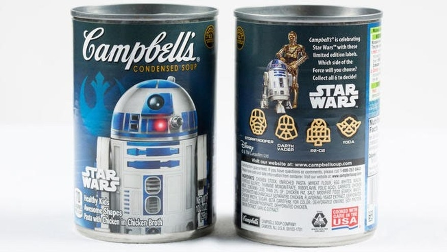 "Campbell's is debuting a new kids' soup recipe in ""Star Wars""-themed cans."