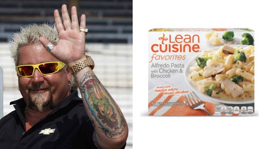 Guy Fieri throwing a Lean Cuisine is internet magic.