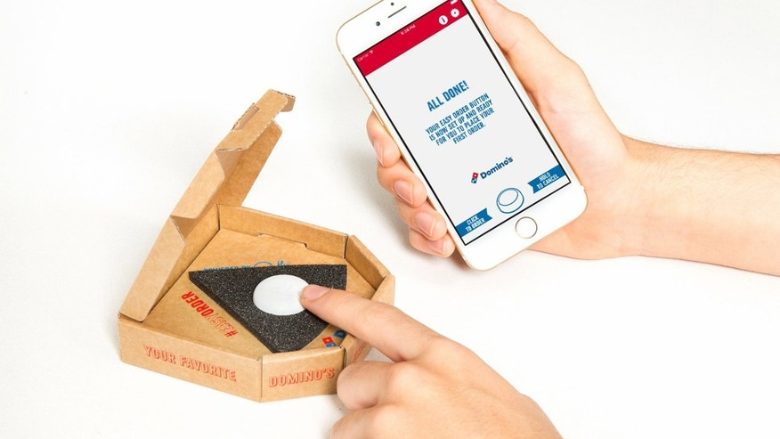 "Domino's new ""Easy Button"" lets users orders with one click."