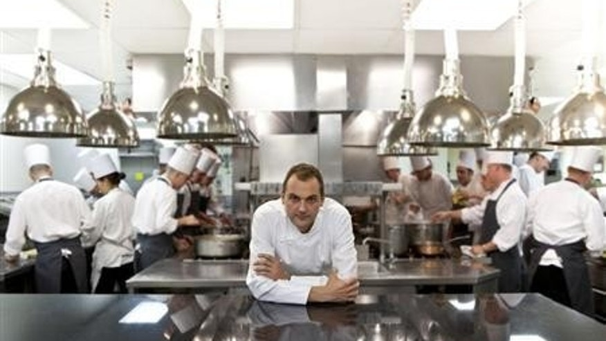 Chef Daniel Humm at the kitchen of Eleven Madison Park in New York City.