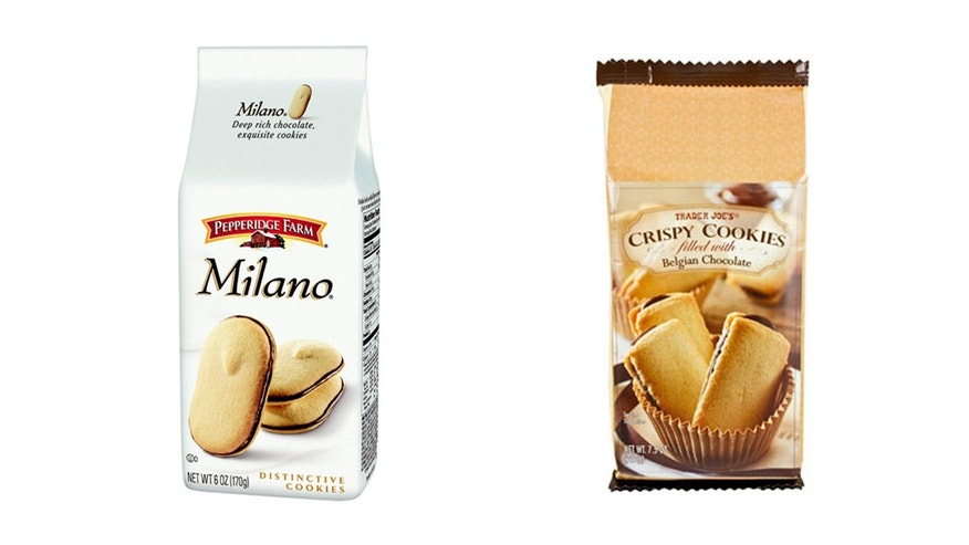 Trader Joe's Crispy Cookies look too similar to Milano cookies.