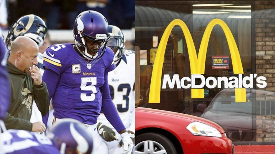 Minnesota Vikings fans may get an unwelcome surprise at one local McDonald's.