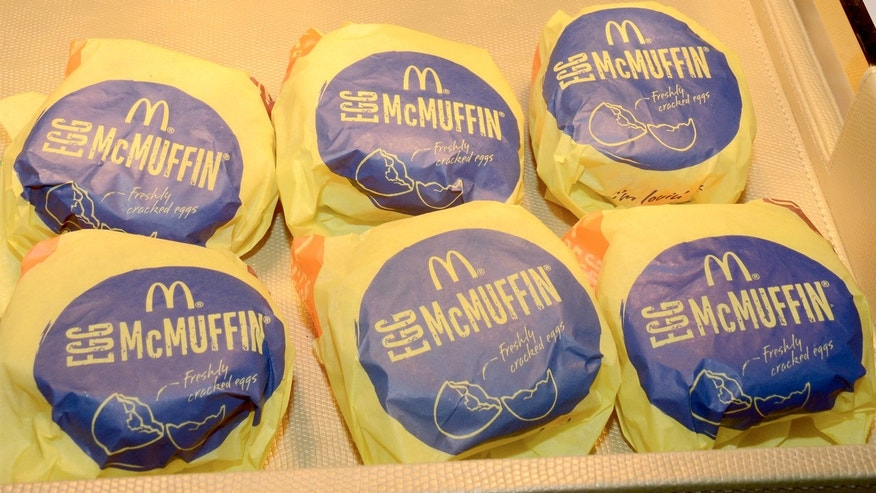 Egg McMuffins are a menu item that customers can get all day long at McDonald's.