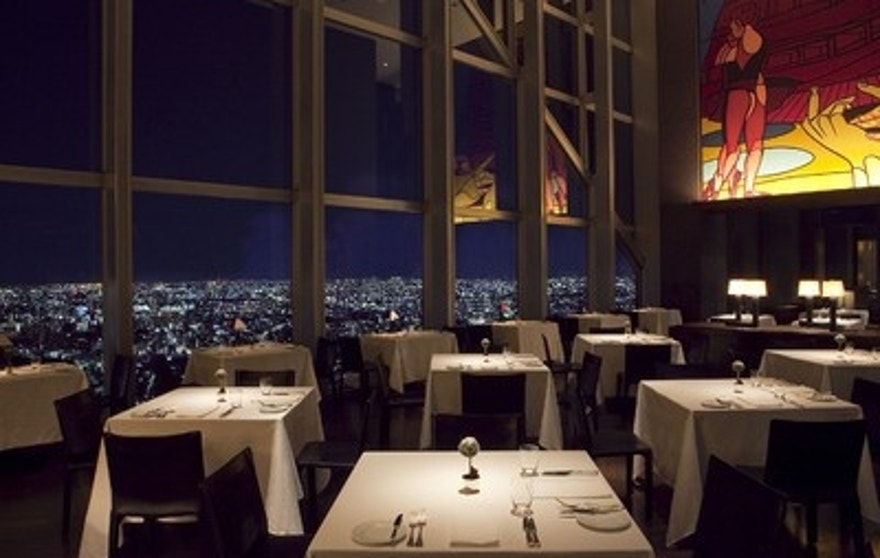 View of Tokyo from the New York Grill at the city's premier Park Hyatt.