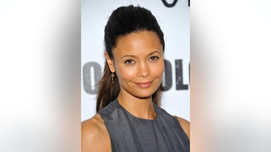 Actress Thandie Newton has blasted Starbucks over a black figure in a loin cloth holding coffee beans.