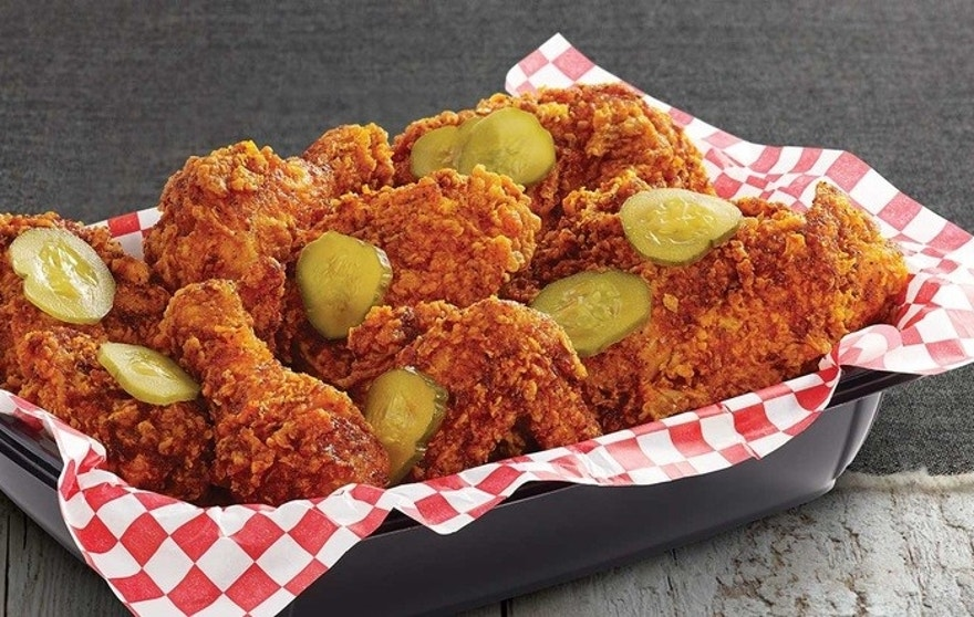 Nashville Hot Chicken is covered in smoky, peppery spices.