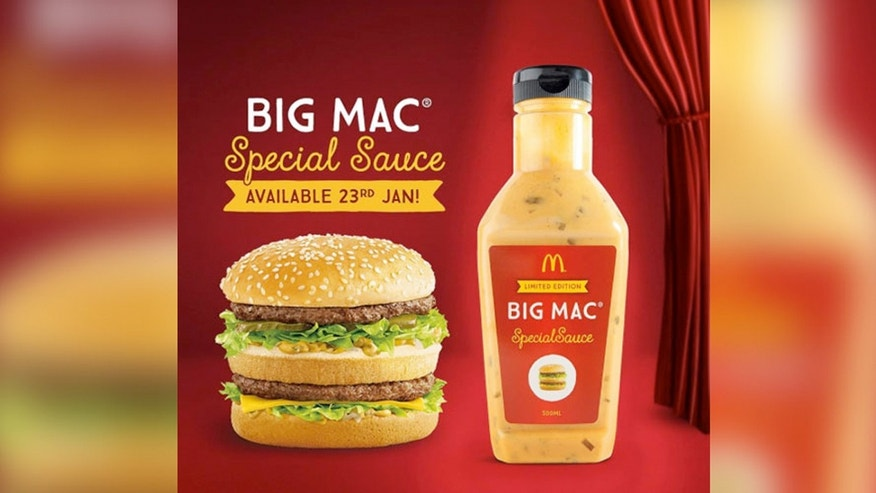 Big Mac Sauce sold by the bottle is selling on auction sites for $100.