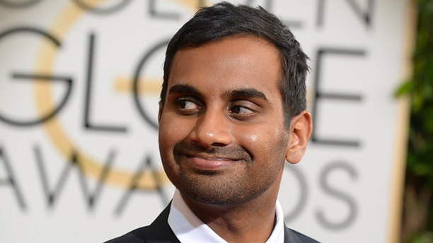 Aziz Ansari arrives at the 71st annual Golden Globe Awards at the Beverly Hilton Hotel on Sunday, Jan. 12, 2014, in Beverly Hills, Calif. (Photo by Jordan Strauss/Invision/AP)
