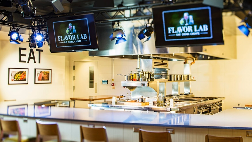 The High-tech Flavor Lab has cameras, lights and high-definition TVs that allow chefs in Florida to stream tutorials or collaborate in real time with their counterparts around the world.