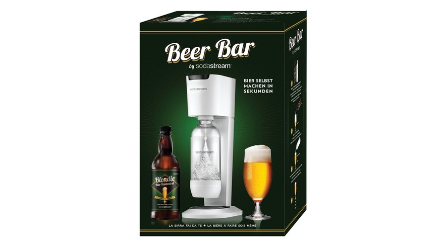 The Beer Bar uses an alcoholic concentrate to turn plain carbonated water into beer.