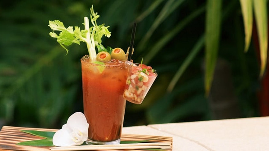 This Hawaiian style poke bloody mary fills you up-- but isn't extreme.