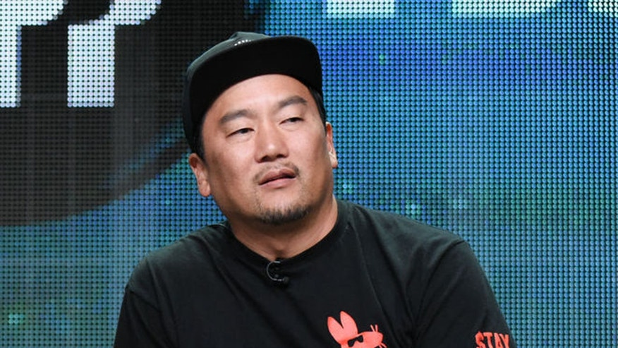 Chef Roy Choi attends a press conference at the Beverly Hilton Hotel in 2015.