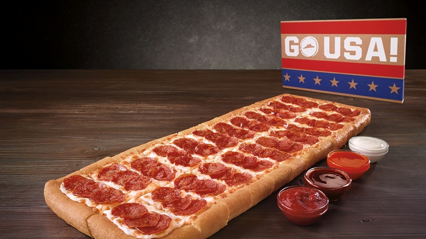 The most patriotic pizza ever?
