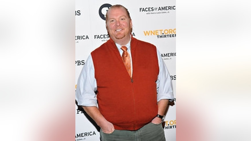 Mario Batali has a love affair with rubbery shoes.