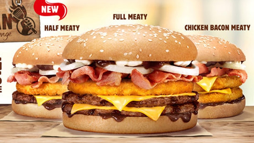 The fast food giant rolled out three new burgers with extra meaty toppings.