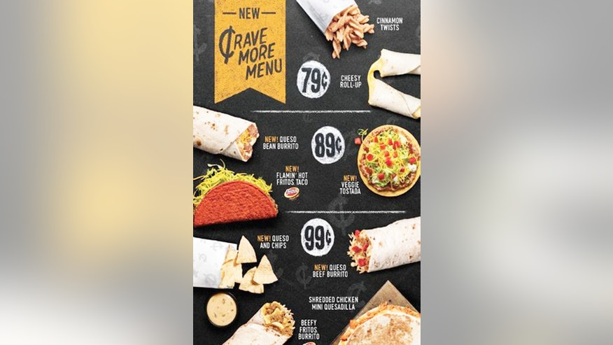 The new Crave More menu has items for just 79 cents.