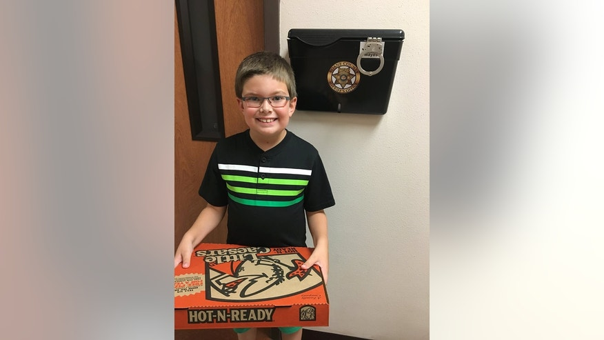 Sean Douglas made a special food delivery for a group of Tennessee law enforcement officials.