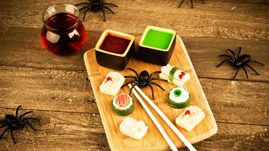 Spook out your sushi platter this Halloween.