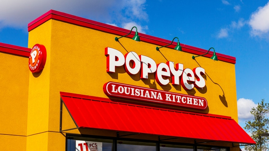 Anderson, US - October 24, 2016: Popeyes Louisiana Kitchen Fast Food Restaurant. Popeyes is known for its Cajun Style Fried Chicken II