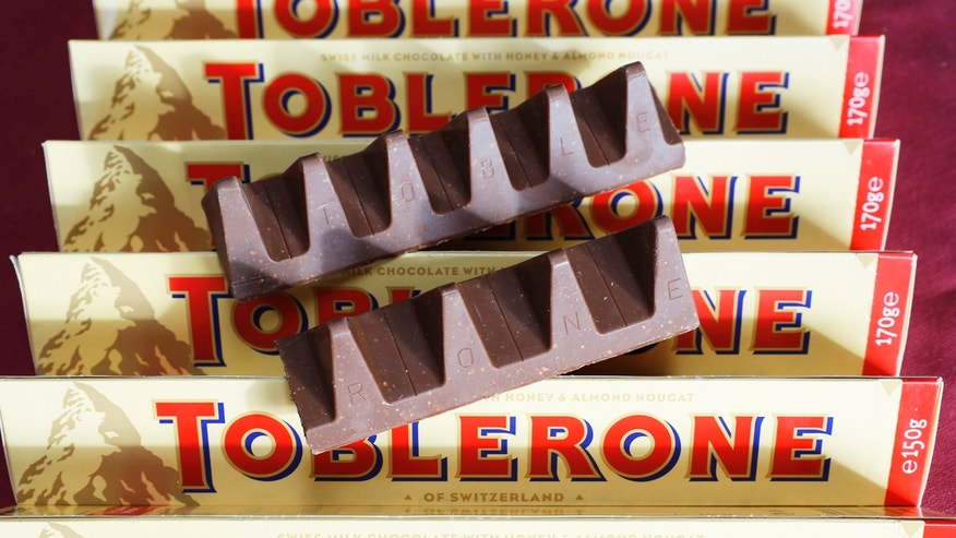 The new Toblerone chocolate bars weigh 20 grams less.