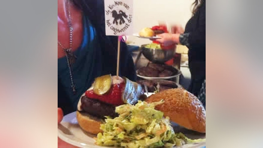 """The """"My Little Pony"""" burger is made from actual horse meat and is sold for about $18."""