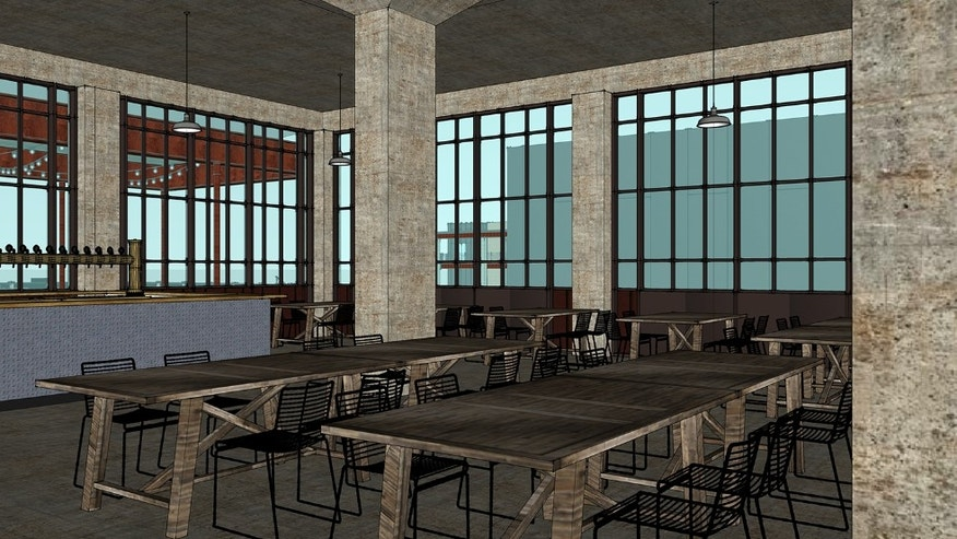A concept of the Guinness Open Gate Brewery Tap Room.