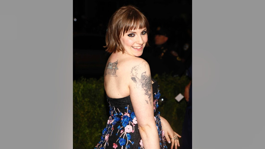 Actress Lena Dunham is known for her prominent ink.