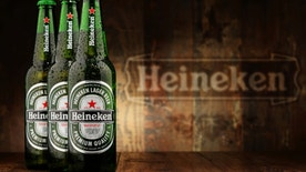 Poznan, Poland - December 18, 2015: Heineken Lager Beer is the flagship product of Heineken International which owns over 125 breweries in more than 70 countries