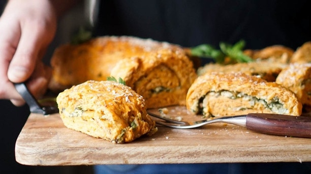 tomato and cheese roulade