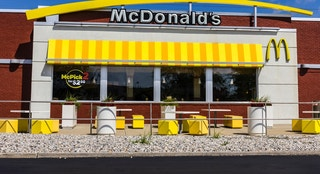 Indianapolis, US - September 7, 2016: McDonald's Restaurant Location. McDonald's is a Chain of Hamburger Restaurants VIII