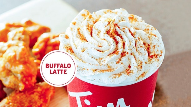Tim Hortons unveils newest 'drink' - a spicy Buffalo Latte. No, really