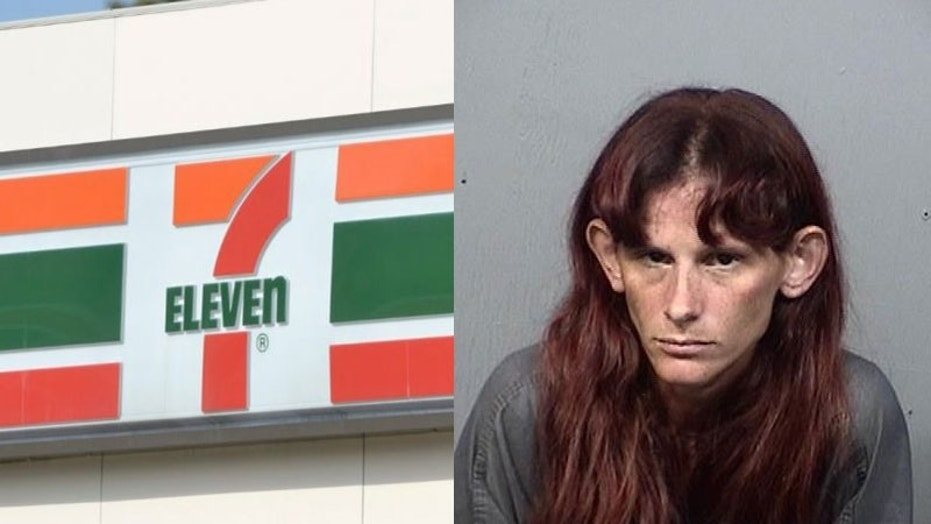 A woman threw nacho cheese at a 7-eleven clerk after she was denied service.