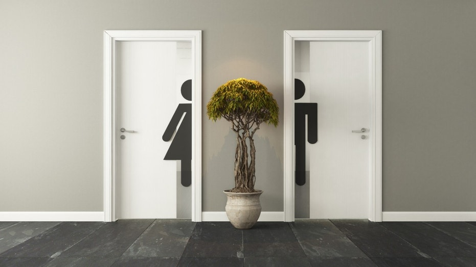 A Texas restaurant's bathroom doors have sparked a social media conversation about gender identity.