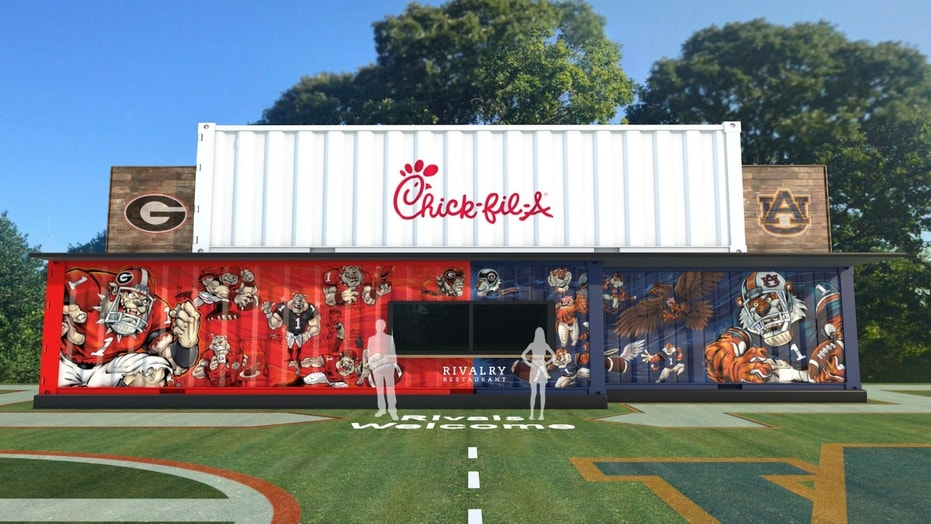 The chicken chain is celebrating the Auburn Tigers and the Georgia Bulldogs the only way they know how: with chicken.