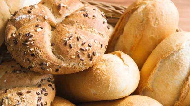 Fresh bread rolls for healthy breakfast