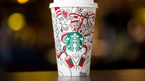 Starbucks 2017 holiday cups photographed on Monday, October 23, 2017. (Joshua Trujillo, Starbucks)