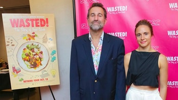 "Restaurateur Ken Friedman, left, and guest, attend the premiere of ""Wasted! The Story of Food Waste"" at the Alamo Drafthouse Cinema on Thursday, Oct. 5, 2017, in New York. (Photo by Brent N. Clarke/Invision/AP)"