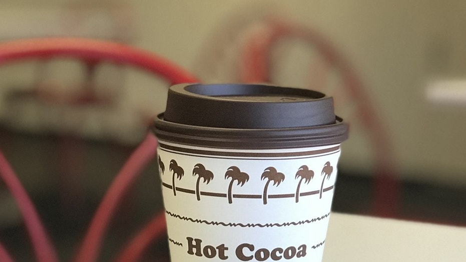 In-N-Out added hot cocoa to its menu on Wednesday.
