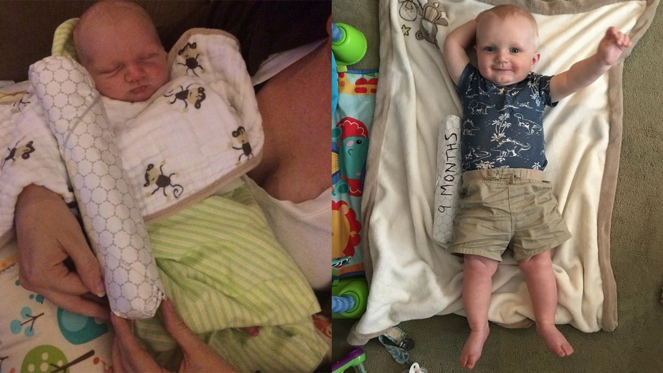 A father in Philly measured his baby's growth over a year by using cheesesteaks.