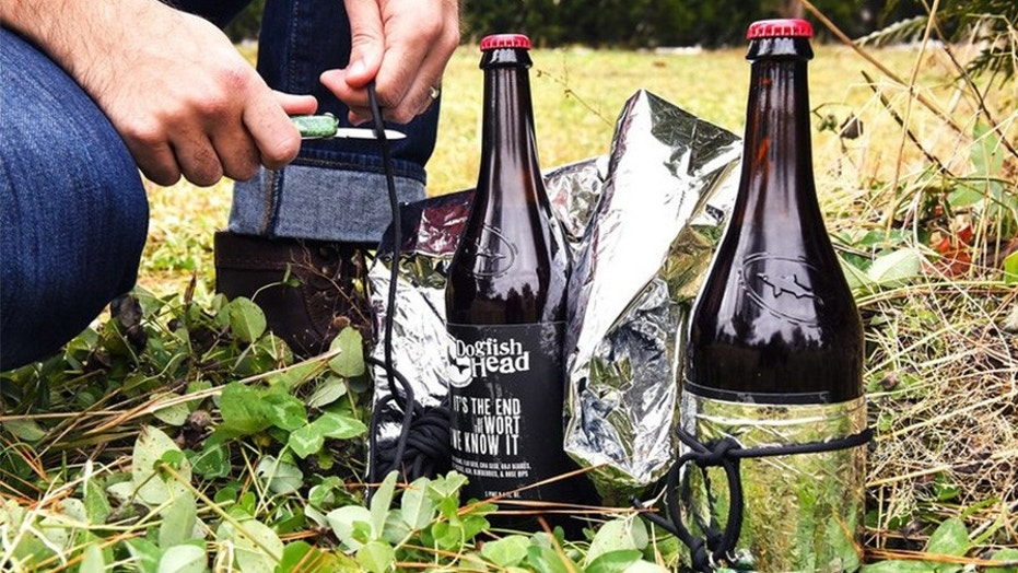 Dogfish Head brewery is launching a beer kit for preppers, complete with knife, rope and blanket.