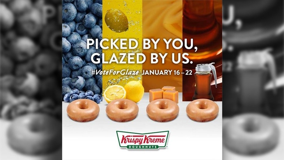You can vote on Krispy Kreme's next doughnut glaze flavor