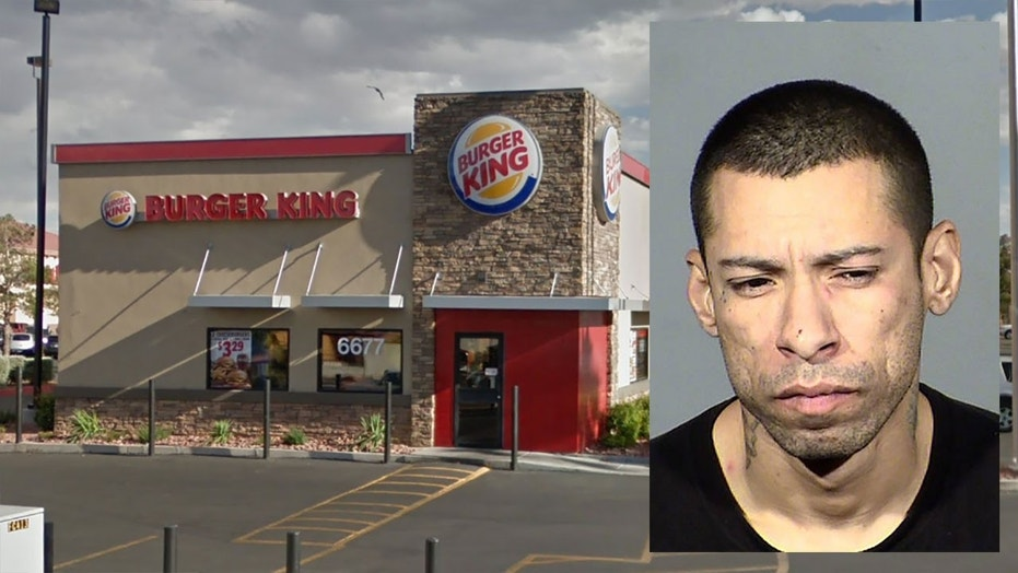 Police say former Burger King employee Steven Ramirez barged into a Las Vegas location and demanded that his manager give him more hours.